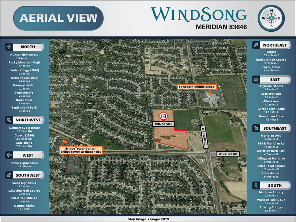 Windsong Aerial Map